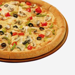 <p>蘑菇、黑橄榄、洋葱、青椒和新鲜番茄缤纷荟萃,无边清香鲜美给您与众不同的味觉体验。</p>